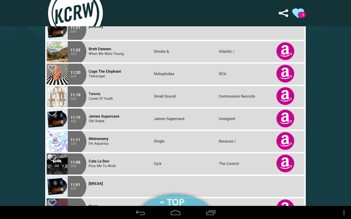 KCRW Playlists - screenshot