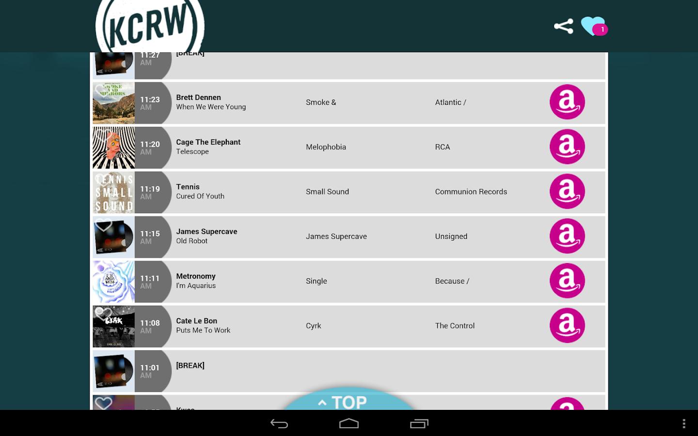 KCRW Playlists - screenshot