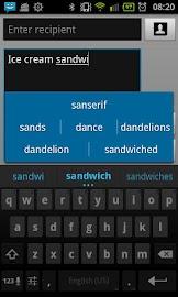 Ice Cream Sandwich Keyboard Screenshot 2