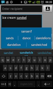 Ice Cream Sandwich Keyboard - screenshot thumbnail