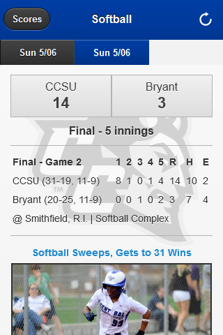 CCSU Athletics- screenshot