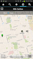 Screenshot of Transit Now Toronto for TTC