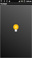 Screenshot of Tiniest Flashlight LED WIDGET