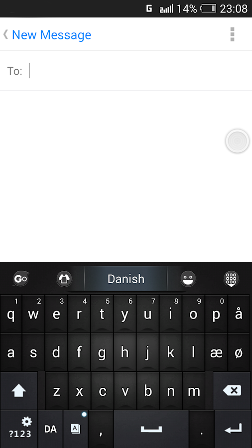 Danish for GO Keyboard - Emoji- screenshot