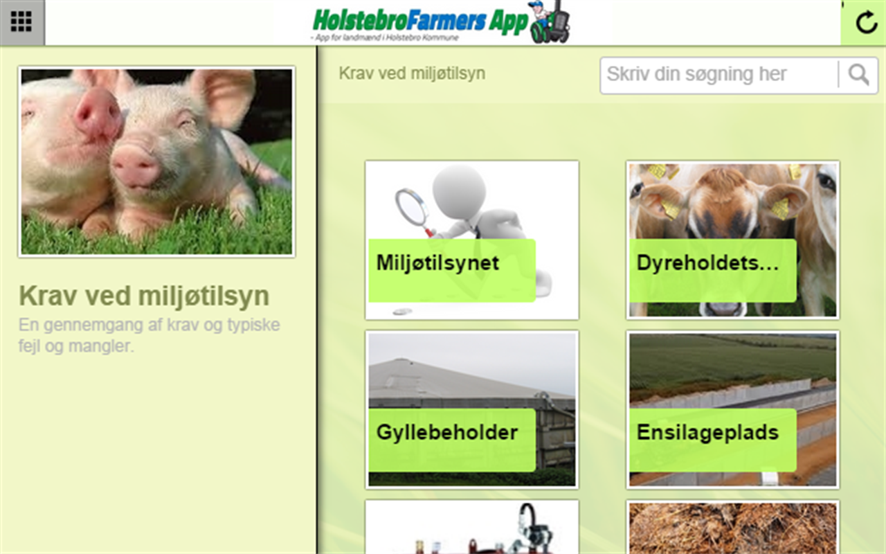 HolstebroFarmers App – screenshot