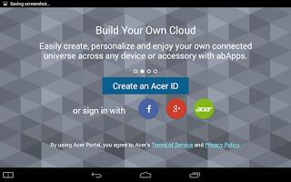 Screenshot of Acer Portal