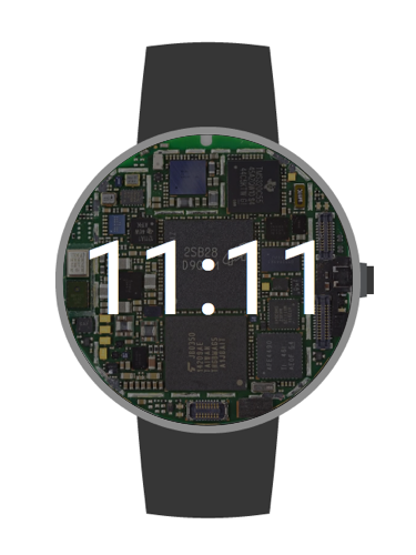 Moto 360 Skeleton Watchface