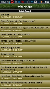 WhoDatApp - New Orleans Saints - screenshot thumbnail