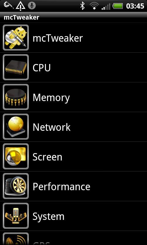 mcTweaker ® root Pro- screenshot