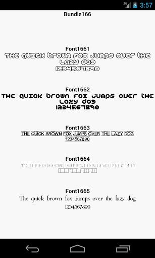 Fonts for FlipFont 166