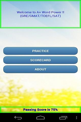 A+ Word Power GRE GMAT Lite! - screenshot