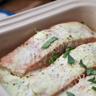 Salmon Spinach Bake