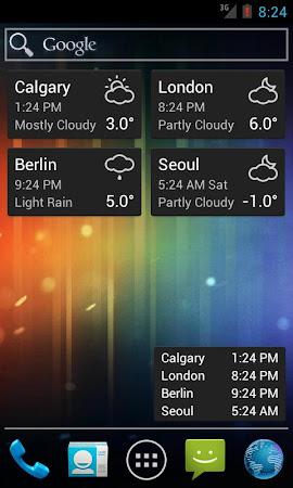 World Clock & Weather Widget 1.8.3 screenshot 530697