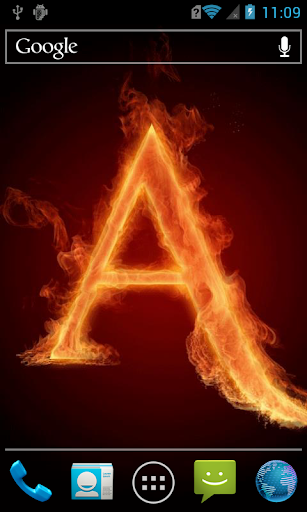 The fiery letter A LWP