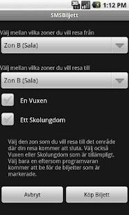 SMSBiljett (GRATIS) - screenshot thumbnail