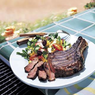 Barbecued Cowboy Steaks.