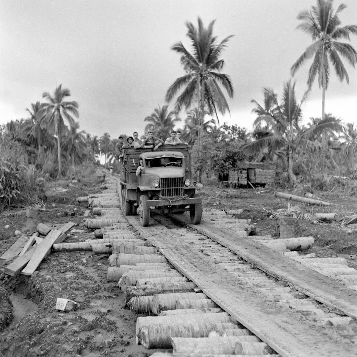 Army Engineers On Leyte
