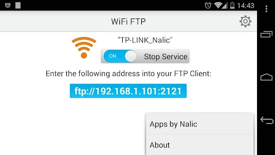 WiFi FTP (WiFi File Transfer) - screenshot thumbnail