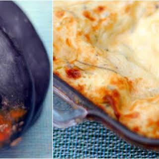 Acorn Squash Lasagna with Béchamel Sauce.