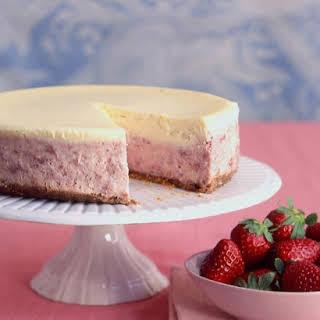 Strawberries-and-Cream Cheesecake.