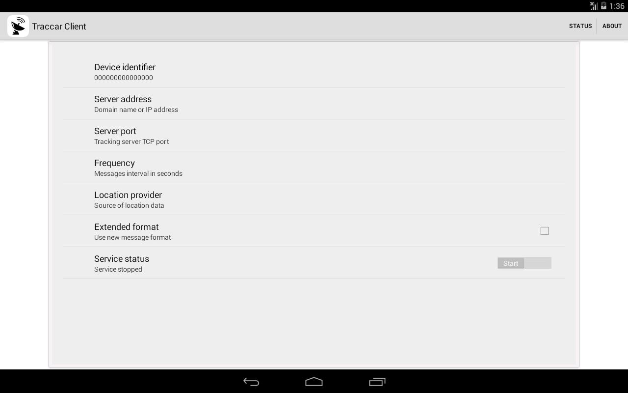 Traccar Client - screenshot