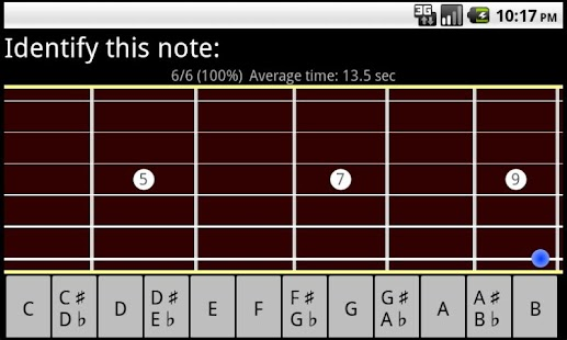 Guitar Fretboard Trainer FREE- screenshot thumbnail