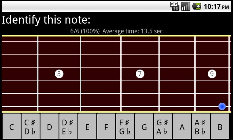 Guitar Fretboard Trainer FREE- screenshot