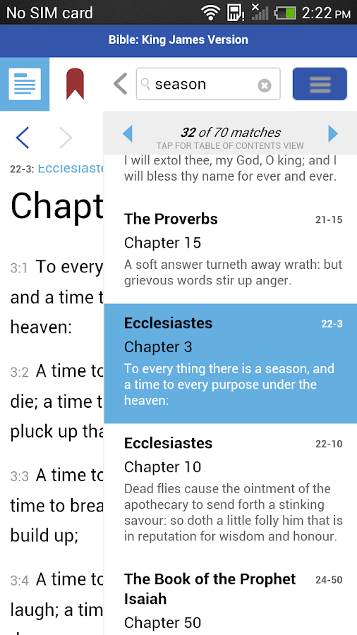 AlphaRef King James Version- screenshot