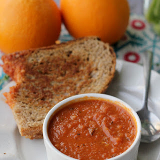 Fire-Roasted Tomato Orange Soup with Classic Grilled Cheese