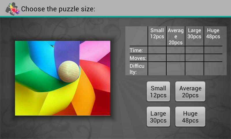 Spectrum Puzzles- screenshot