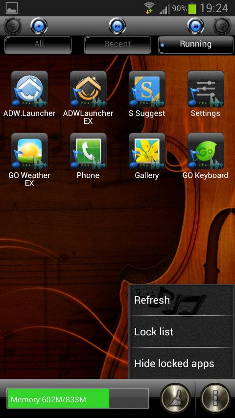 Music GO Launcher EX Theme - screenshot