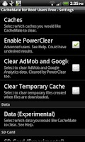 Screenshot of CacheMate for Root Users Free