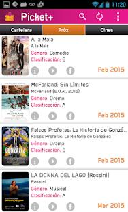 Picket+ Cartelera de Cines - screenshot thumbnail
