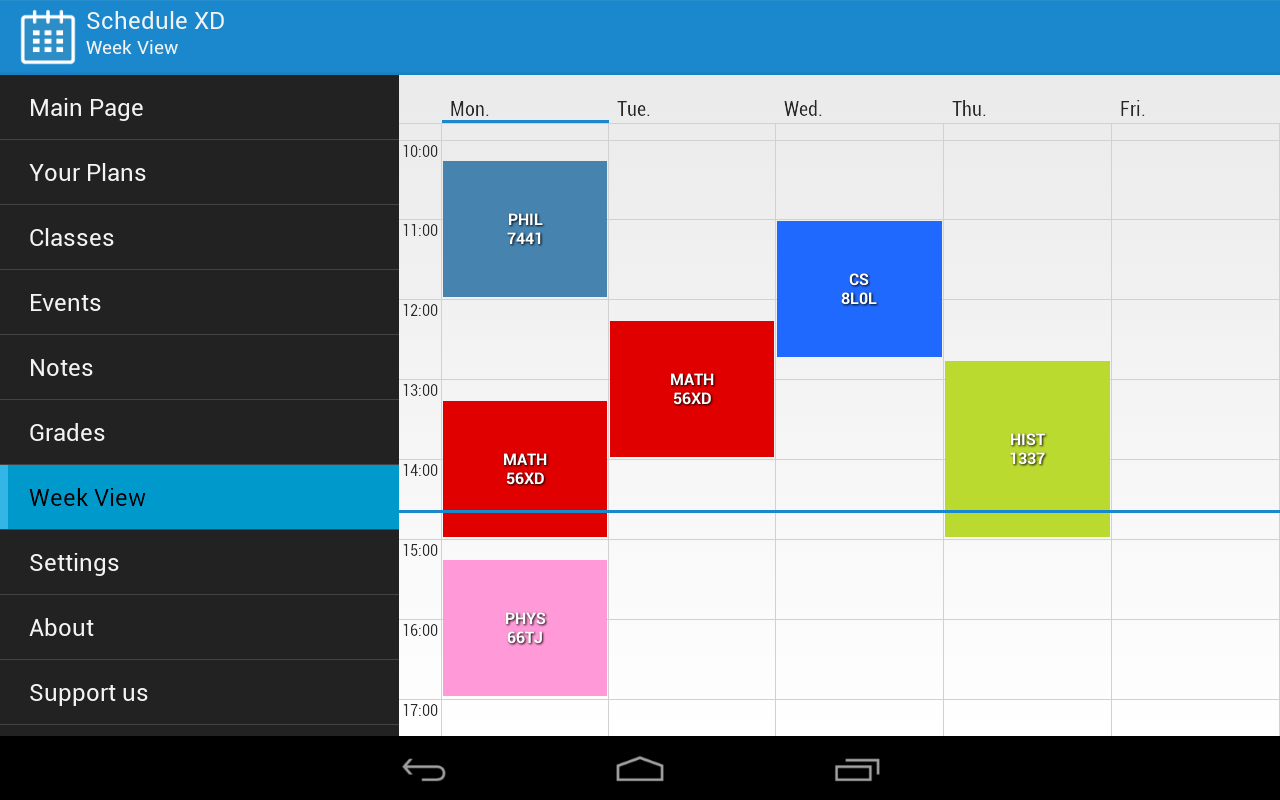 Schedule XD- screenshot