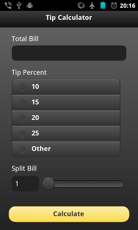 Tip Calc- screenshot