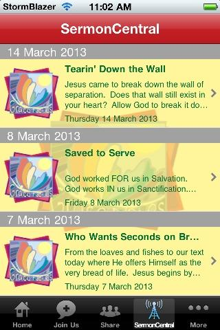 Grace Notes Sermon Ministry- screenshot