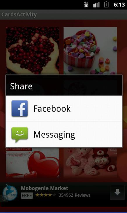 Valentine Songs, SMS and Cards - screenshot
