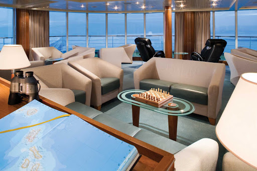 Silversea_Observation_Lounge - Meet and mingle with guests on Silver Explorer in the Observation Lounge. This room was designed to let you see a panoramic of the ever changing views.