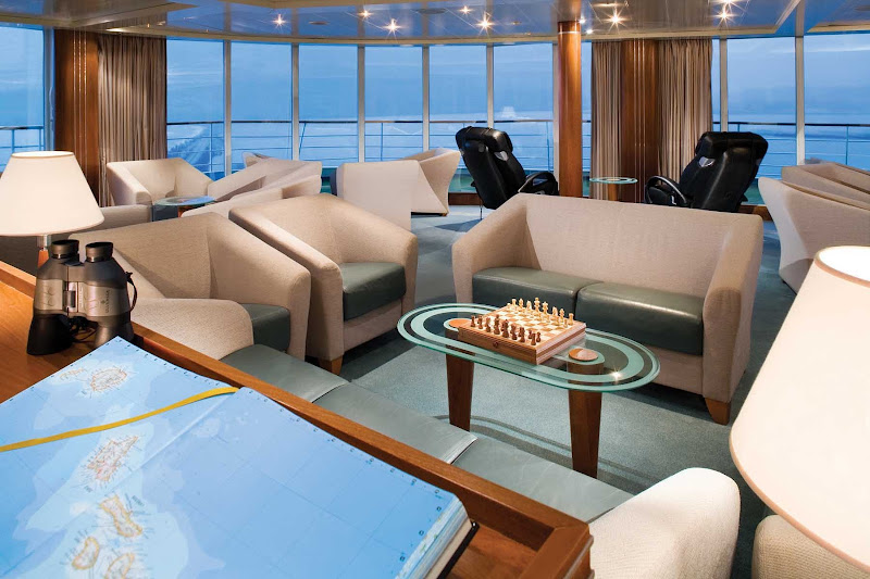 Meet and mingle with guests on Silver Explorer in the Observation Lounge. The room was designed to let you see a panoramic of the ever changing views.