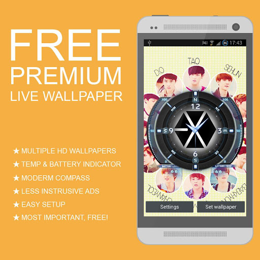 EXO Live Wallpaper HD+