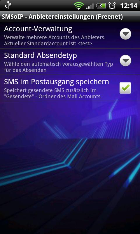 SMSoIP Freenet Plugin - screenshot