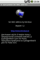Screenshot of Set MAC address