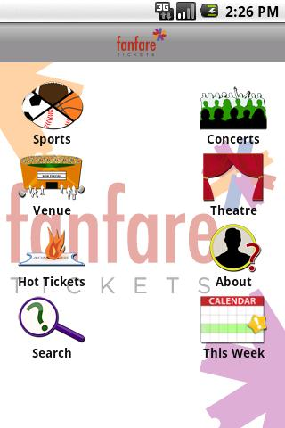 fanfare Tickets - screenshot