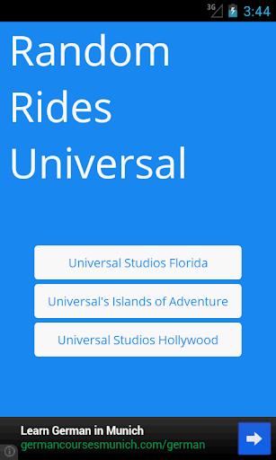 Random Rides: Universal