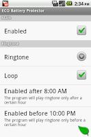 Screenshot of ECO Battery Protector