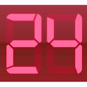 Digital Clock Red