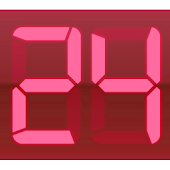 Digital Clock Red