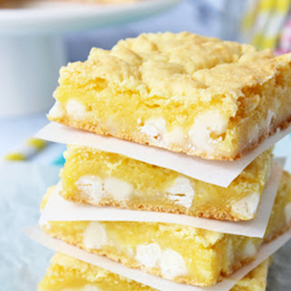 Lemon White Chocolate Gooey Bars