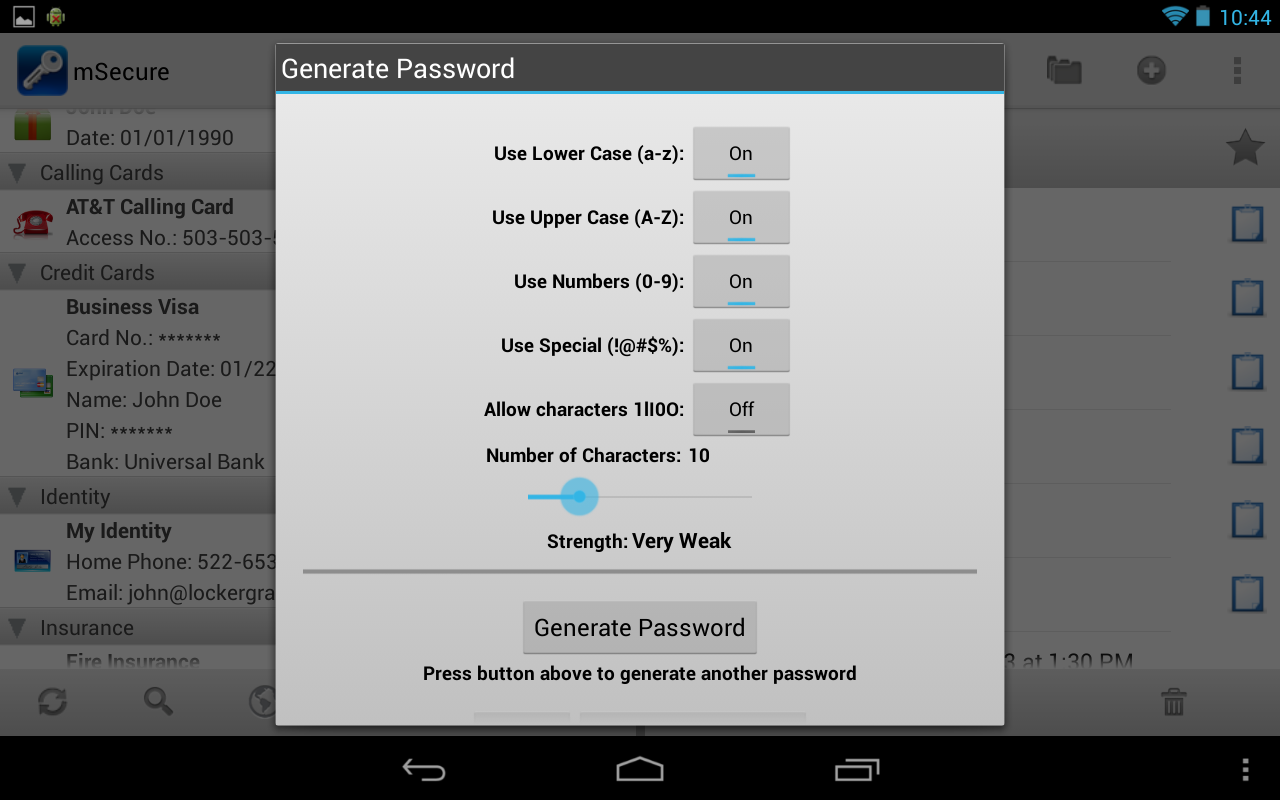 mSecure - Password Manager - screenshot