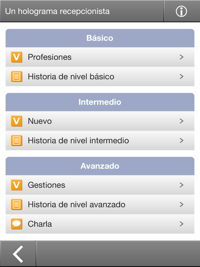 Interactive Spanish- screenshot